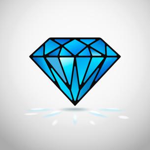 Abstract diamond icon or symbol vector illustrationのイラスト素材 [FYI03090434]
