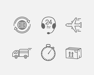 Shipping and logistic icons set vector illustrationのイラスト素材 [FYI03090436]