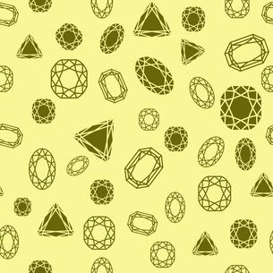 Seamless diamond and jewels on yellow pattern vector illustrationのイラスト素材 [FYI03090440]