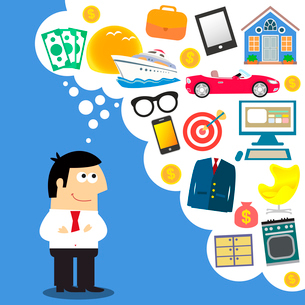 Business dreams credit future planning vector illustrationのイラスト素材 [FYI03090470]