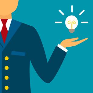 Presentation of an innovative business idea or solution vector illustrationのイラスト素材 [FYI03090477]