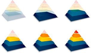 Pyramidal progress or loading bar indicator vector illustrationのイラスト素材 [FYI03090517]