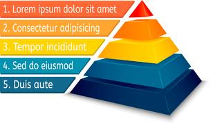 Pyramid chart for infographics presentation vector illustrationのイラスト素材 [FYI03090521]