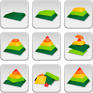 Pyramid status indicator icons set vector illustrationのイラスト素材 [FYI03090522]