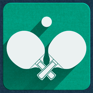 Table tennis with ball spotrs icon vector illustrationのイラスト素材 [FYI03090540]