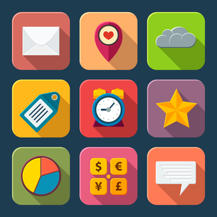 Social media icons for web or mobile vector illustrationのイラスト素材 [FYI03090563]