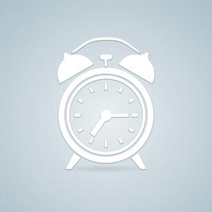 Retro alarm simple clock icon vector illustrationのイラスト素材 [FYI03090569]