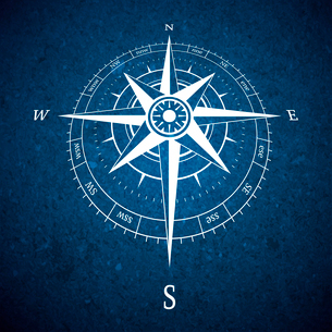 Retro navigation compass symbol poster vector illustrationのイラスト素材 [FYI03090585]