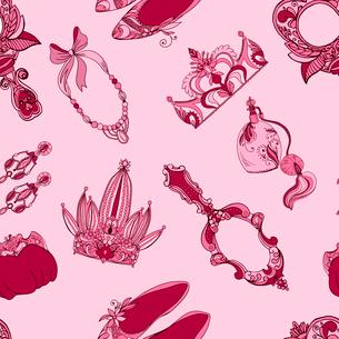 Seamless princess fashion accessories pattern vector illustrationのイラスト素材 [FYI03090613]