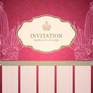 Retro princess invitation template vector illustrationのイラスト素材 [FYI03090615]