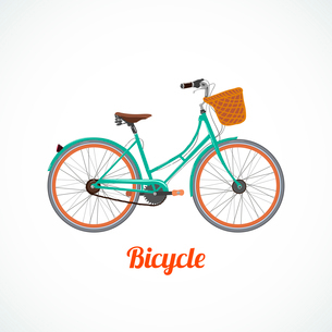Vintage bicycle symbol or poster vector illustration isolatedのイラスト素材 [FYI03090621]