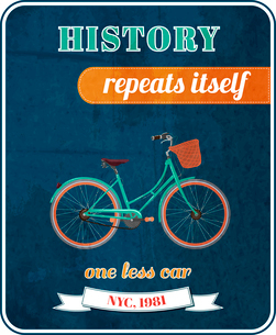 Hipster bicycle promo poster design vector illustrationのイラスト素材 [FYI03090622]
