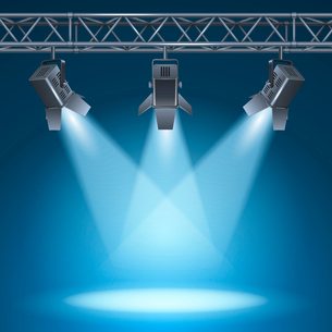 Blank stage with bright lights vector illustrationのイラスト素材 [FYI03090636]