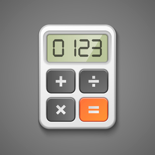 Calculator icon business concept isolated vector illustrationのイラスト素材 [FYI03090642]