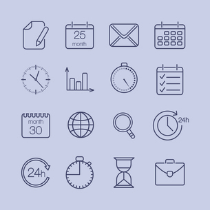 Business time is money icons set vector illustrationのイラスト素材 [FYI03090643]