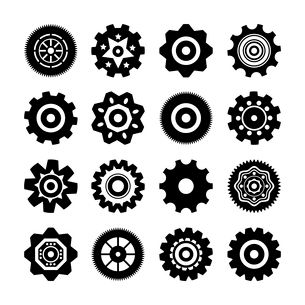 Set of gear wheels icons vector illustration isolatedのイラスト素材 [FYI03090647]