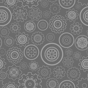 Dark seamless gear wheels pattern background vector illustrationのイラスト素材 [FYI03090657]