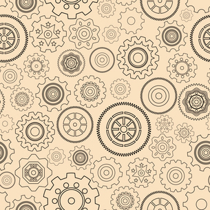 Seamless gear wheels pattern background vector illustrationのイラスト素材 [FYI03090661]
