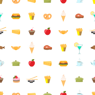 Food and drink pattern seamless background vector illustrationのイラスト素材 [FYI03090667]