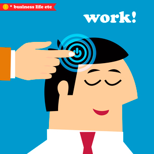 Business life. Wake up and work, office weekdays vector illustrationのイラスト素材 [FYI03090711]