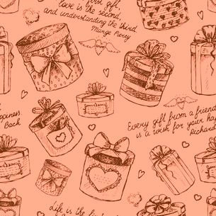Seamless gift present boxes pattern background vector illustrationのイラスト素材 [FYI03090735]