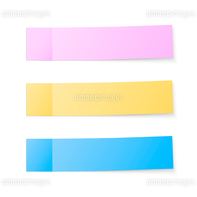 Color sticky blank notes set vector illustrationのイラスト素材 [FYI03090759]