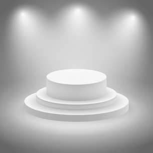 White empty illuminated stage podium vector illustrationのイラスト素材 [FYI03090777]