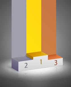 Sports winners podium to present the award vector illustrationのイラスト素材 [FYI03090799]