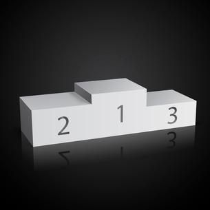 White sports winners podium on black vector illustrationのイラスト素材 [FYI03090803]