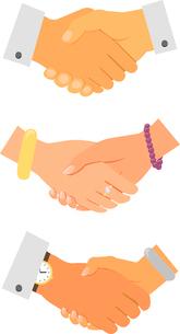 Business handshake icon set isolated vector illustrationのイラスト素材 [FYI03090815]
