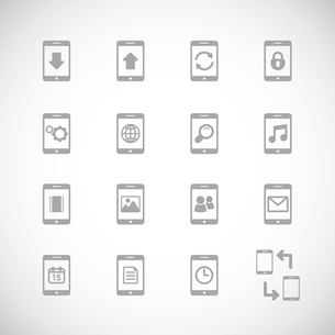 Online mobile applications iconset, contour flat isolated vector illustrationのイラスト素材 [FYI03090849]