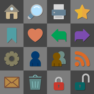 Collection of internet icons, color flat design isolated vector illustrationのイラスト素材 [FYI03090865]