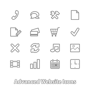 Set of website icons for online shopping, contour flat isolated vector illustrationのイラスト素材 [FYI03090869]