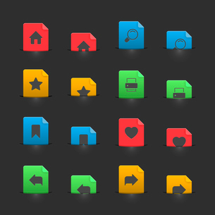 Website interface buttons on moving stubs, two positions isolated vector illustrationのイラスト素材 [FYI03090871]