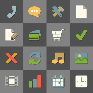 Online shopping website iconset, color flat design isolated vector illustrationのイラスト素材 [FYI03090873]