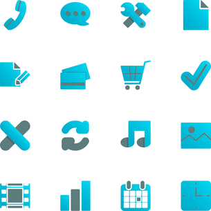 Ecommerce iconset for web store design, gradient with shadow isolated vector illustrationのイラスト素材 [FYI03090874]
