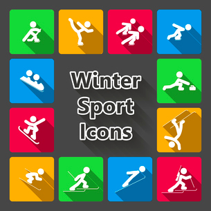 Winter sports icons set isolated vector illustrationのイラスト素材 [FYI03090882]