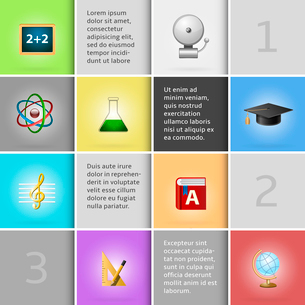 Education infographic elements for school or university vector illustrationのイラスト素材 [FYI03090894]