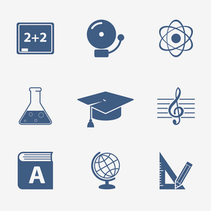 Interface elements for education website isolated vector illustrationのイラスト素材 [FYI03090900]
