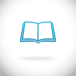 Blank open book icon poster vector illustrationのイラスト素材 [FYI03090912]