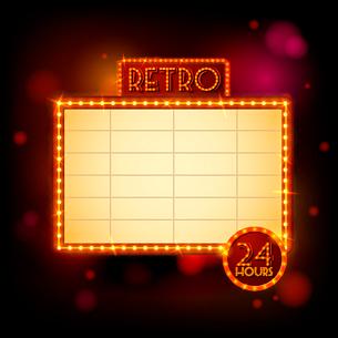 Retro billboard promo poster template vector illustrationのイラスト素材 [FYI03090930]