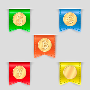 Cash icons set of pay receive and convert money isolated vector illustrationのイラスト素材 [FYI03090947]
