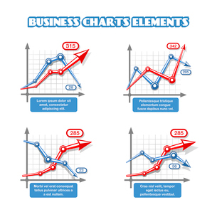 Business graph elements for infographics vector illustrationのイラスト素材 [FYI03090949]