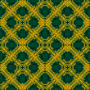Seamless yellow and green pattern in arabic or muslim style vector illustrationのイラスト素材 [FYI03090989]