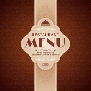 Restaurant cafe menu brochure template with cooking elements vector illustrationのイラスト素材 [FYI03090991]
