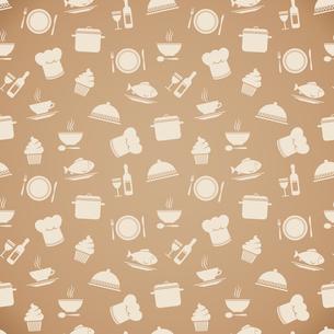 Seamless restaurant menu pattern background vector illustrationのイラスト素材 [FYI03090995]