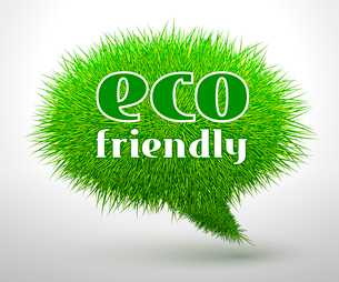Eco friendly, green grass concept or emblem isolated vector illustrationのイラスト素材 [FYI03091045]