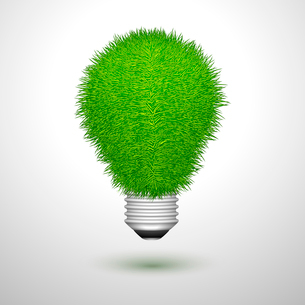 Green creative lightbulb innovation or ecology concept isolated vector illustrationのイラスト素材 [FYI03091050]