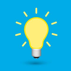 Light bulb creative idea concept isolated vector illustrationのイラスト素材 [FYI03091051]