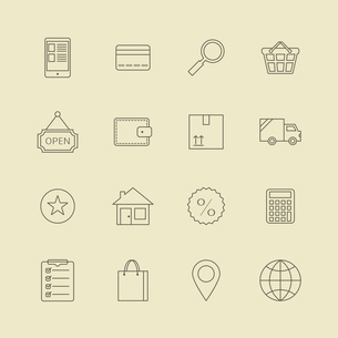 Navigation buttons for online internet store of customer service and order processing vector illustrのイラスト素材 [FYI03091084]